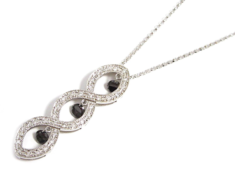 【中古】【送料無料】ジュエリー ダイヤモンドネックレス レディース K18WG(750) ホワイトゴールドダイヤモンド0.50/0.18ct | JEWELRY ネックレス 美品 ブランドオフ BRANDOFF