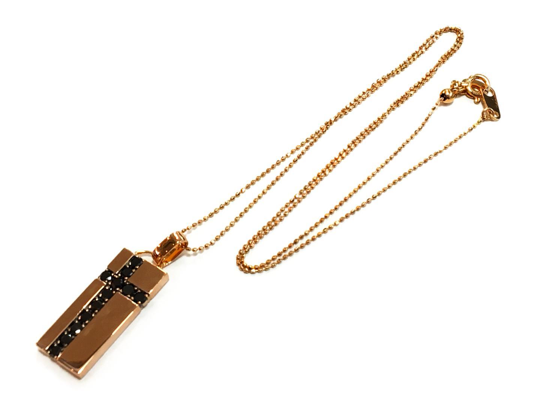 【中古】【送料無料】ジュエリー ブラックダイモンド ネックレス K18PG(750) ピンクゴールドxブラックダイヤモンド0.69ct ブラックxピンクゴールド   JEWELRY ネックレス メンズ レディース 美品 ブランドオフ BRANDOFF