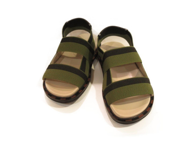 【中古】【送料無料】セレクション MARNI サンダル レディース ポリウレタン/ナイロン カーキ/ブラック | SELECTION くつ 靴 美品 ブランド ブランドオフ BRANDOFF