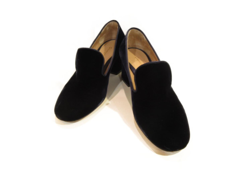 【中古】セレクション Gianvito Rossi パンプス レディース ベロア ネイビー | SELECTION くつ 靴 美品 ブランド ブランドオフ BRANDOFF