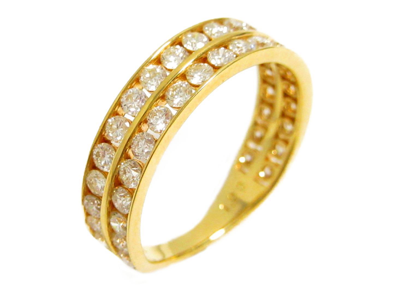 【中古】【送料無料】ジュエリー ダイヤモンド リング 指輪 レディース K18YG(750) イエローゴールド×ダイヤモンド(1.00ct) | JEWELRY リング 美品 ブランドオフ BRANDOFF