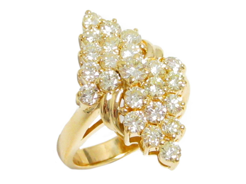 【中古】【送料無料】ジュエリー ダイヤモンドリング 指輪 レディース K18YG(750) イエローゴールド × ダイヤモンド(2.04ct)   JEWELRY リング 美品 ブランドオフ BRANDOFF