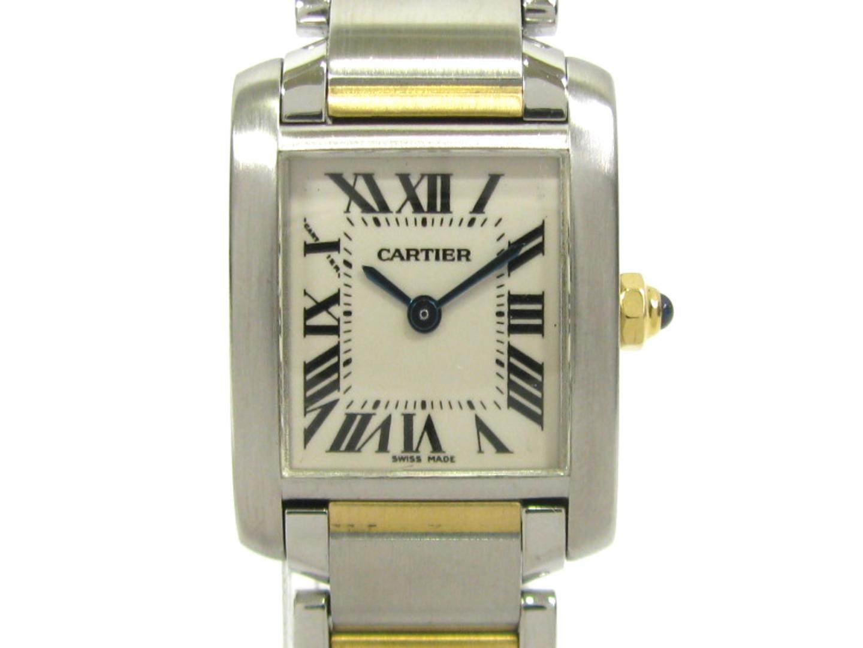 【中古】【送料無料】カルティエ タンクフランセーズ ウォッチ 腕時計 レディース ステンレススチール(SS)K18YG(750)イエローゴールド アイボリー (W51007Q4) | Cartier クオーツ WATCH 時計 美品 ブランド ブランドオフ BRANDOFF