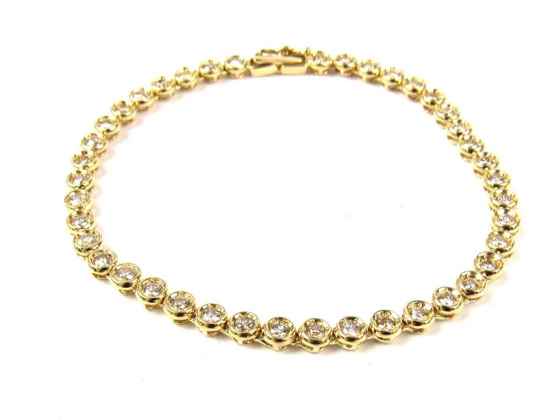 【中古】【送料無料】ジュエリー ダイヤモンド ブレスレット レディース K18YG(750) イエローゴールド x ダイヤモンド(2.00ct) | JEWELRY ブレスレット K18 18K 18金 美品 ブランドオフ BRANDOFF