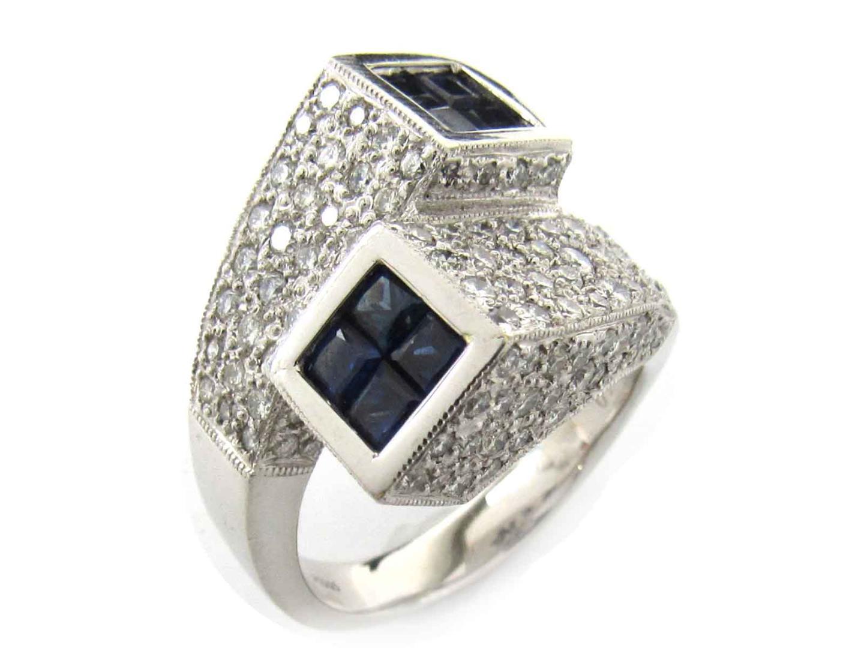 【中古】【送料無料】ジュエリー サファイア ダイヤモンド リング 指輪 レディース PT900 プラチナ x サファイア(1.50ct) x ダイヤモンド(1.80ct) | JEWELRY 美品 ブランドオフ BRANDOFF