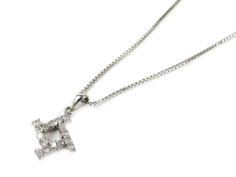 【中古】【送料無料】ジュエリー ダイヤモンド ネックレス レディース PT900 プラチナ x PT850 プラチナ x ダイヤモンド(0.27ct) | JEWELRY ネックレス 美品 ブランドオフ BRANDOFF
