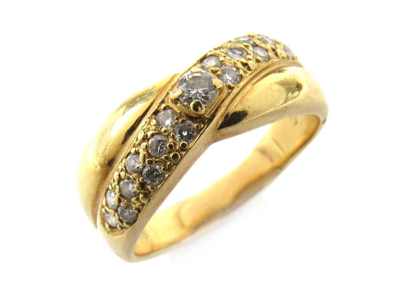 【中古】【送料無料】ジュエリー ダイヤモンド リング 指輪 レディース K18YG(750) イエローゴールド x ダイヤモンド(0.43ct) | JEWELRY K18 18K 18金 美品 ブランドオフ BRANDOFF