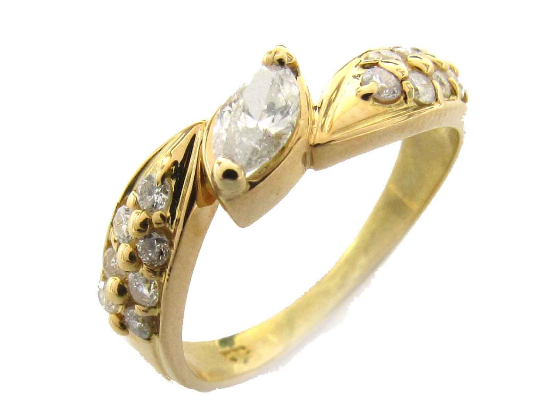 【中古】【送料無料】ジュエリー ダイヤモンド リング 指輪 レディース K18YG(750) イエローゴールド x ダイヤモンド(0.05ct) | JEWELRY K18 18K 18金 美品 ブランドオフ BRANDOFF