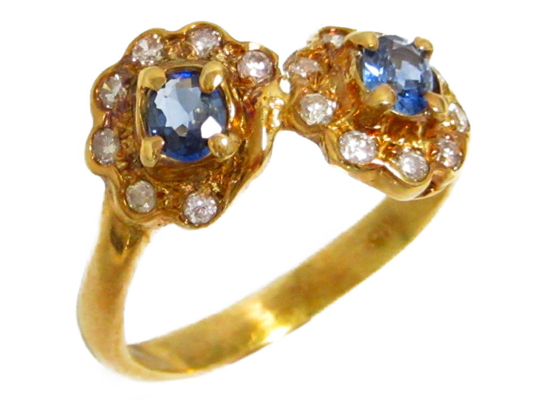 【中古】ジュエリー ダイヤモンド 色石リング 指輪 レディース K18YG(750) イエローゴールド × ダイヤモンド(0.13ct) | JEWELRY リング 美品 ブランドオフ BRANDOFF