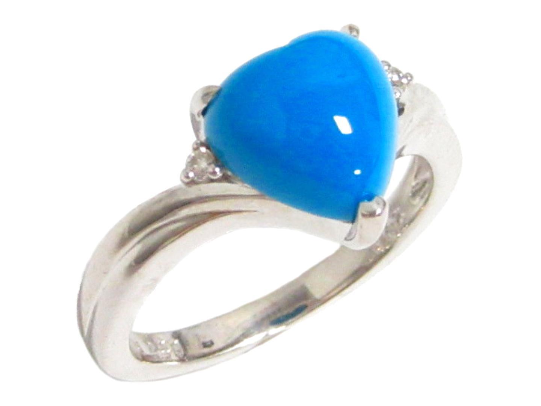 【中古】【送料無料】ジュエリー トルコ石リング 指輪 レディース K18WG(750) ホワイトゴールド × トルコ石(2.27ct) × ダイヤモンド(0.02ct) | JEWELRY K18 18K 18金 美品 ブランドオフ BRANDOFF