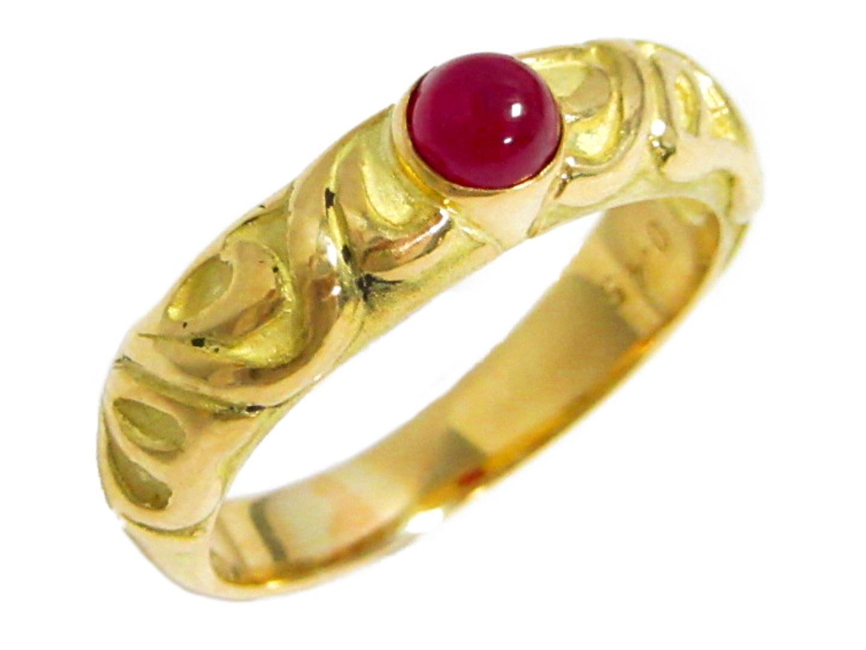 【中古】【送料無料】ジュエリー 色石 デザインリング 指輪 レディース K18YG(750) イエローゴールド × 色石(0.45ct) | JEWELRY K18 18K 18金 美品 ブランドオフ BRANDOFF