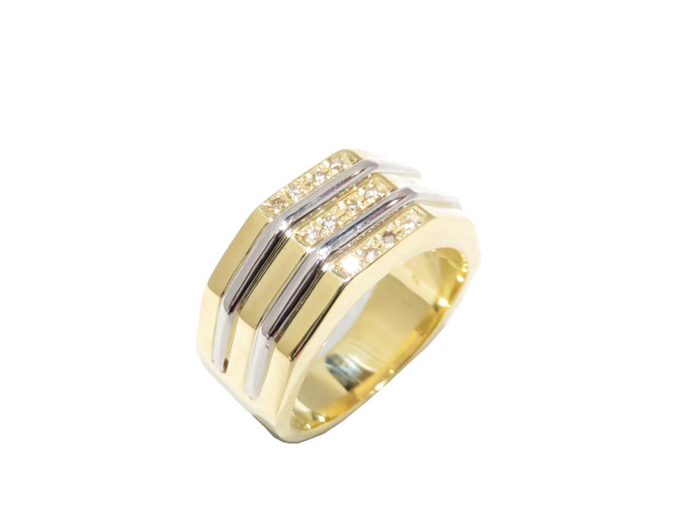 【中古】【送料無料】ジュエリー ダイヤモンドリング 指輪 メンズ K18YG(750) イエローゴールドK18YG(750)イエローゴールド×PT900(プラチナ) | JEWELRY K18 18K 18金 美品 ブランドオフ BRANDOFF