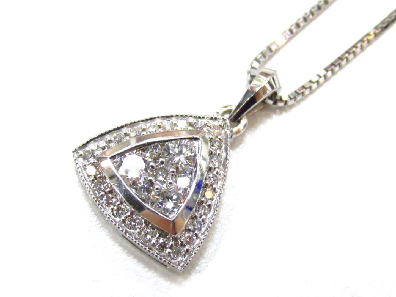 【中古】【送料無料】ジュエリー ダイヤモンド ネックレス レディース K18WG(750) ホワイトゴールド×ダイヤモンド(0.50ct) | JEWELRY ネックレス K18 18K 18金 美品 ブランドオフ BRANDOFF