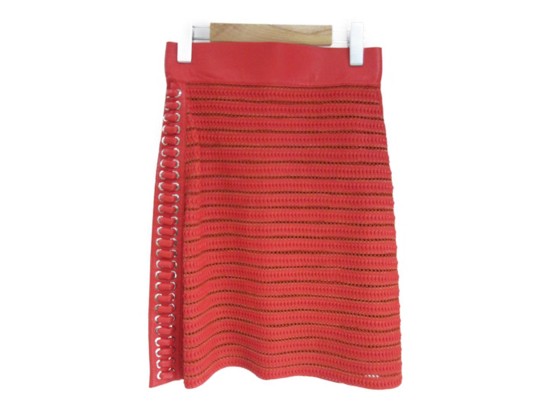 【中古】【送料無料】フェンディ レザースカート レディース レザー レッド | FENDI 衣類 ブランド 美品 ブランドオフ BRANDOFF