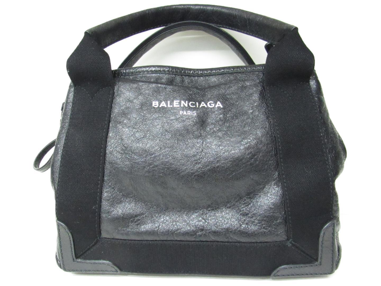 【中古】【送料無料】バレンシアガ 2wayショルダーバッグ レディース レザー×キャンパス ブラック | BALENCIAGA ショルダーバック 肩がけ ショルダー バッグ バック 鞄 かばん ブランドバッグ BAG ブランド 美品 ブランドオフ BRANDOFF