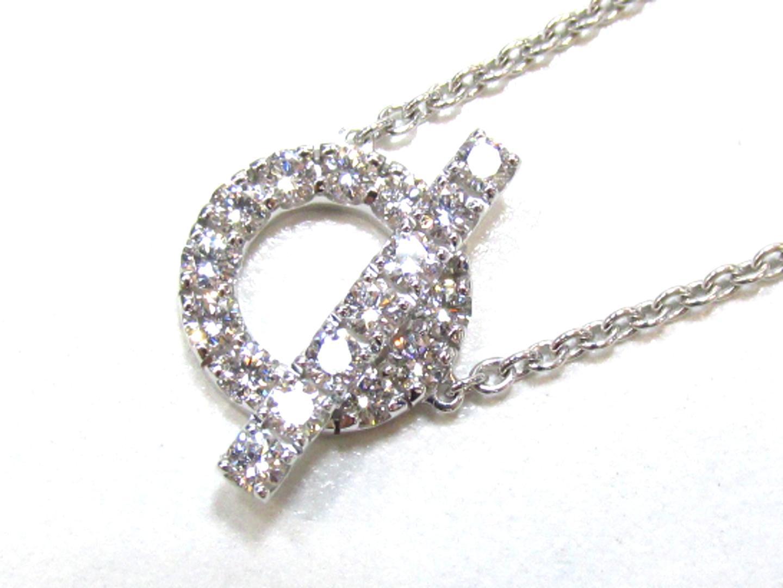 【中古】【送料無料】エルメス ダイヤネックレス レディース K18WG(750) ホワイトゴールド×ダイヤモンド(0.57) | HERMES ネックレス K18 18K 18金 ブランド 美品 ブランドオフ BRANDOFF