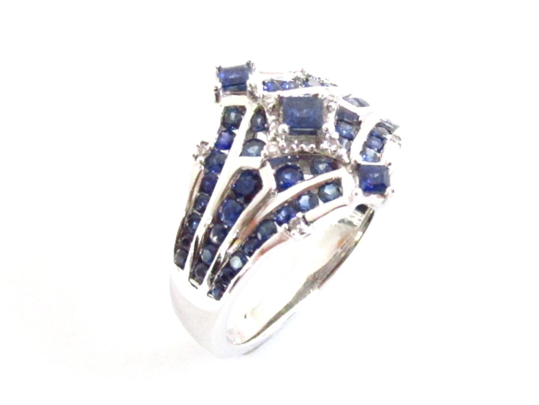 【中古】【送料無料】ジュエリー サファイア ダイヤモンド リング 指輪 レディース K18WG(750) ホワイトゴールドxサファイア(1.28ct)xダイヤモンド(0.05ct) ブルーxシルバー | JEWELRY リング K18 18K 18金 美品 ブランドオフ BRANDOFF