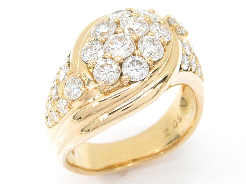 【中古】【送料無料】ジュエリー ダイヤモンドリング 指輪 レディース K18YG(750) イエローゴールドxダイヤモンド(2.05ct) | JEWELRY リング K18 18K 18金 美品 ブランドオフ BRANDOFF