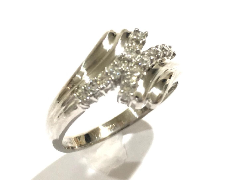 【中古】【送料無料】ジュエリー ダイヤモンドリング 指輪 レディース PT850 プラチナ×ダイヤモンド(0.31ct) | JEWELRY リング 美品 ブランドオフ BRANDOFF