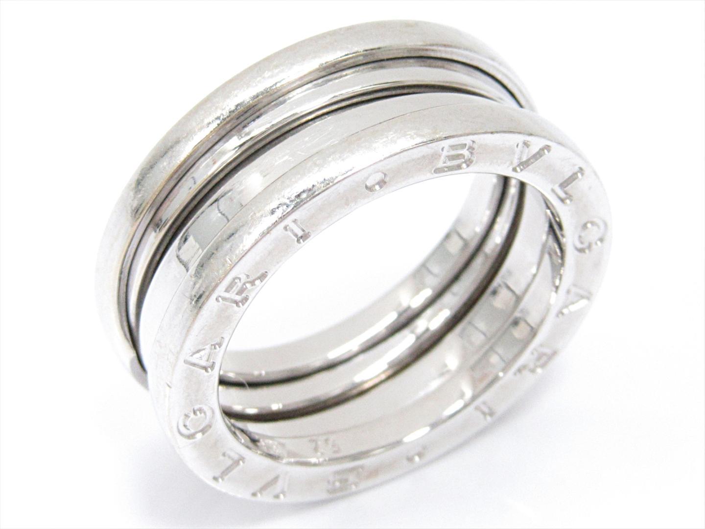 【中古】【送料無料】ブルガリ B-zero1 ビーゼロワンリング 指輪 Mサイズ メンズ レディース K18WG(750) ホワイトゴールド | BVLGARI リング K18 18K 18金 ブランド 美品 ブランドオフ BRANDOFF