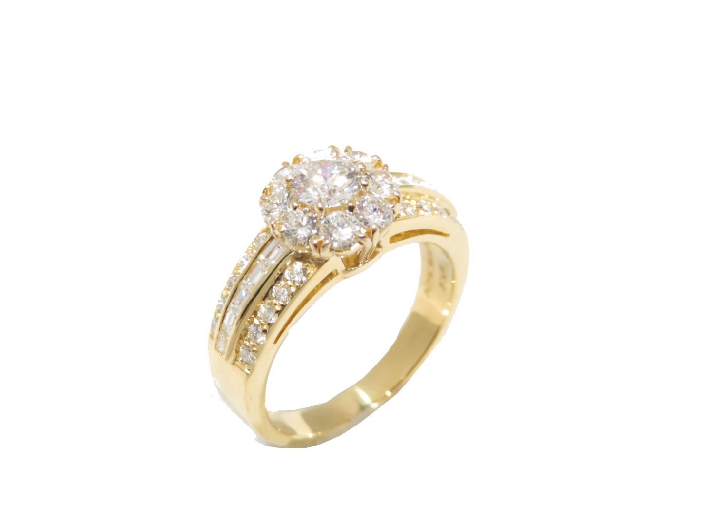 【中古】【送料無料】ヴァンクリーフ&アーペル フラワーイブ ダイヤモンドリング 指輪 レディース K18WG(750) ホワイトゴールド | Van Cleef & Arpels リング K18 18K 18金 ブランド 美品 ブランドオフ BRANDOFF