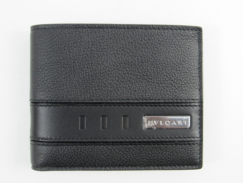 【送料無料】ブルガリ 二つ折札入れ メンズ レザー ブラック (281960) | BVLGARI 財布 ブランド 新品 ブランドオフ BRANDOFF
