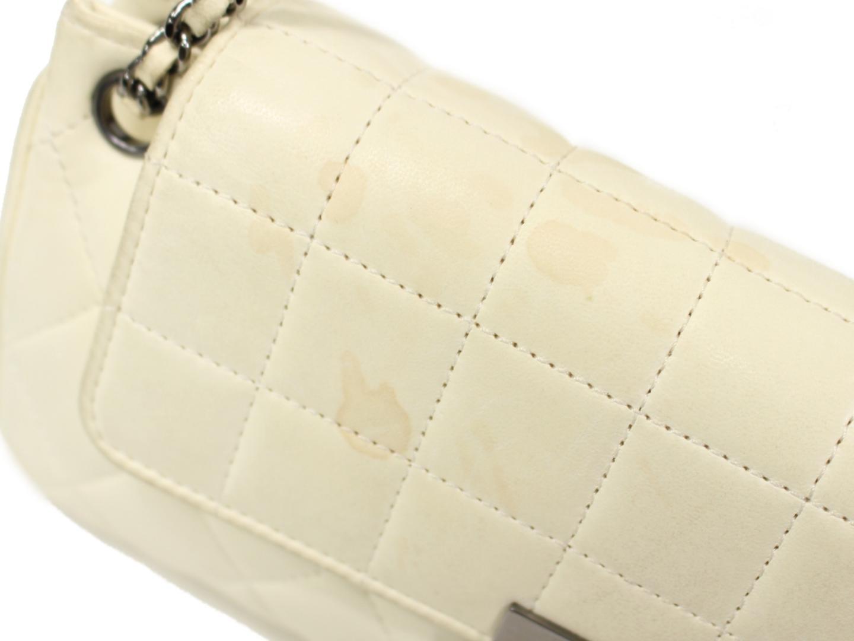 3ec936af86a2 チョコバー チェーンショルダーバッグ レディース 羊革(ラム) ホワイト ...
