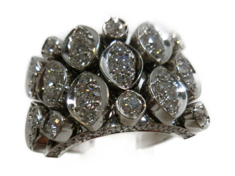 【中古】【送料無料】カルティエ ディアデア リング 指輪 レディース 750WG×ダイヤモンド | Cartier リング ブランド 美品 ブランドオフ BRANDOFF