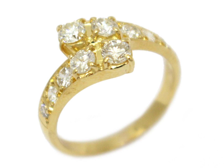 【中古】【送料無料】ジュエリー ダイヤモンド リング 指輪 レディース K18YG(750) イエローゴールド×ダイヤモンド(1.00ct) | JEWELRY リング K18 18K 18金 美品 ブランドオフ BRANDOFF
