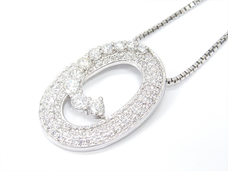 【中古】【送料無料】ジュエリー ダイヤモンドネックレス レディース PT900 プラチナxK18WG(750)ホワイトゴールドxダイヤモンド(1.37ct) | JEWELRY ネックレス K18 18K 18金 美品 ブランドオフ BRANDOFF