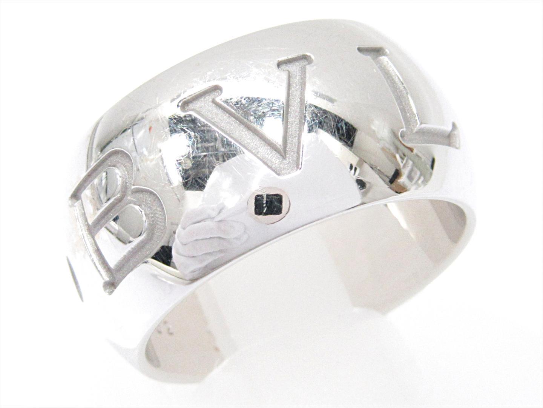 【中古】【送料無料】ブルガリ モノロゴリング 指輪 メンズ レディース K18WG(750) ホワイトゴールド | BVLGARI リング K18 18K 18金 ブランド 美品 ブランドオフ BRANDOFF