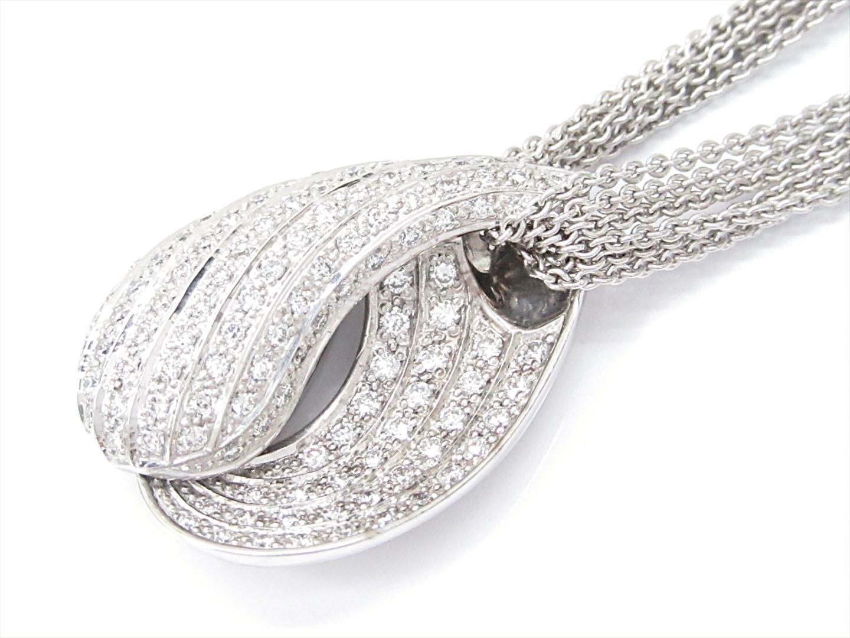 【中古】【送料無料】ジュエリー ダイヤモンドネックレス レディース K18WG(750) ホワイトゴールドxダイヤモンド(1.34ct) | JEWELRY ネックレス K18 18K 18金 美品 ブランドオフ BRANDOFF