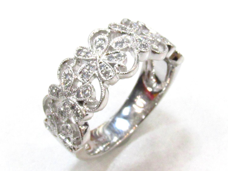 【中古】【送料無料】ジュエリー ダイヤモンドリング 指輪 レディース 18KWGホワイトゴールド×ダイヤモンド(0.22ct) | JEWELRY リング 美品 ブランドオフ BRANDOFF