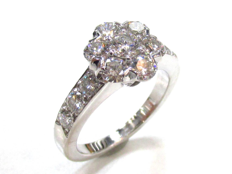 【中古】【送料無料】ヴァンクリーフ&アーペル フルーレットダイヤモンドリング 指輪 レディース K18WG(750) ホワイトゴールド×ダイヤモンド | Van Cleef & Arpels リング K18 18K 18金 美品 ブランド ブランドオフ BRANDOFF