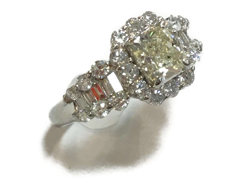 【中古】【送料無料】ジュエリー ジュエリー ダイヤモンド リング 指輪 レディース PT900 プラチナ×ダイヤモンド(1.062ct)×ダイヤモンド(1.10ct) | JEWELRY リング 美品 ブランドオフ BRANDOFF