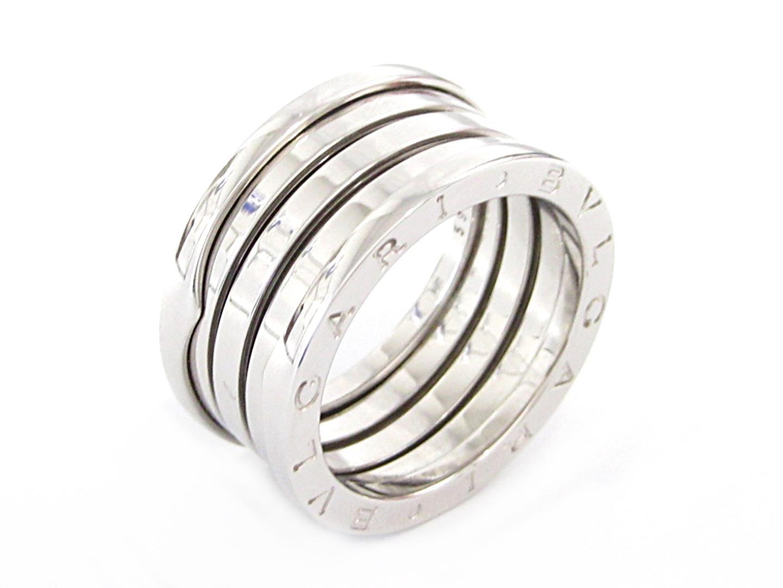 【中古】【送料無料】ブルガリ B-zero1 ビーゼロワンリング 指輪 Mサイズ メンズ K18WG(750) ホワイトゴールド シルバー | BVLGARI リング K18 18K 18金 美品 ブランド ブランドオフ BRANDOFF