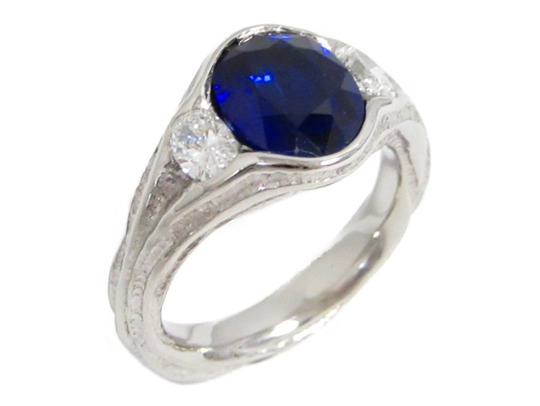【中古】【送料無料】ジュエリー ブルーサファイア ダイヤモンド リング 指輪 レディース PT900 プラチナ×サファイア(2.09ct)×ダイヤモンド(0.38ct) | JEWELRY リング 美品 ブランドオフ BRANDOFF
