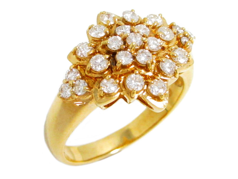 【中古】【送料無料】ジュエリー ダイヤモンド リング 指輪 レディース K18YG(750) イエローゴールド×ダイヤモンド(0.70ct) | JEWELRY リング K18 18K 18金 美品 ブランドオフ BRANDOFF