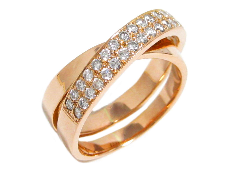 【中古】【送料無料】ジュエリー ダイヤモンド リング 指輪 レディース K18PG(750) ピンクゴールド×ダイヤモンド(石目無し) | JEWELRY リング K18 18K 18金 美品 ブランドオフ BRANDOFF