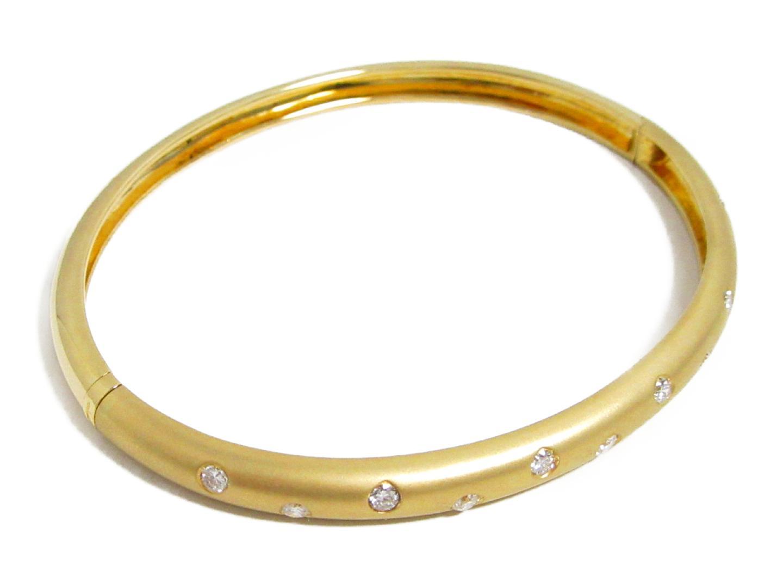 【中古】【送料無料】ジュエリー ダイヤモンド ブレスレット バングル レディース K18YG(750) イエローゴールド×ダイヤモンド(0.55ct) | JEWELRY ブレスレット K18 18K 18金 美品 ブランドオフ BRANDOFF