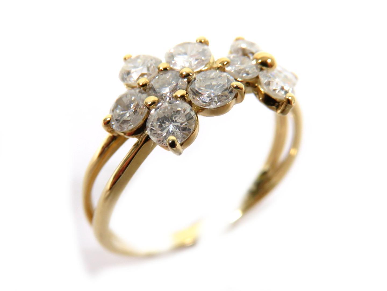 【送料無料】ジュエリー ダイヤモンドリング 指輪 レディース K18YG(750) イエローゴールドダイヤモンド1.00ct | JEWELRY リング K18 18K 18金 新品 ブランドオフ BRANDOFF
