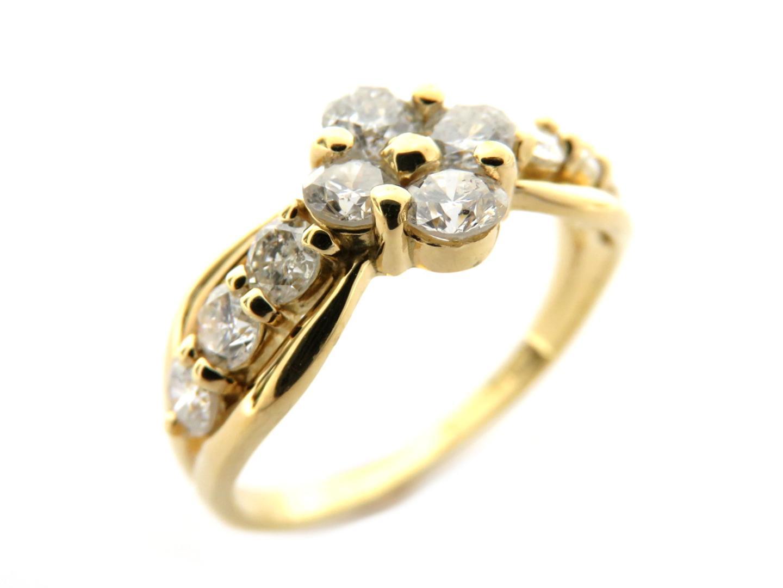 【送料無料】ジュエリー ダイヤモンドリング 指輪 レディース K18YG(750) イエローゴールドダイヤモンド 1.00ct クリアー | JEWELRY リング K18 18K 18金 新品 ブランドオフ BRANDOFF