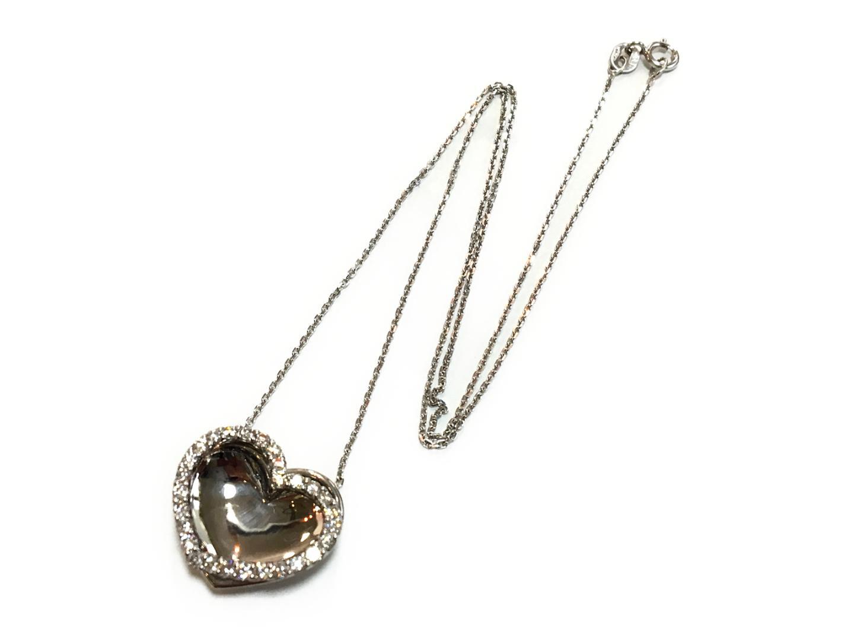 【中古】【送料無料】ジュエリー ダイヤモンド ネックレス レディース K18WG(750) ホワイトゴールドxダイヤモンド0.56ct クリアーxシルバー | JEWELRY ネックレス K18 18K 18金 美品 ブランドオフ BRANDOFF