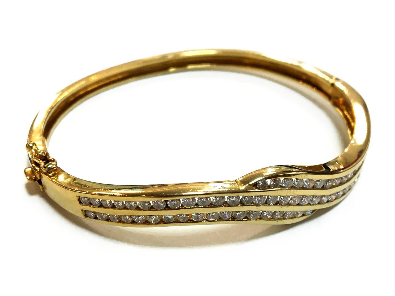 【中古】【送料無料】ジュエリー ダイヤモンド バングル メンズ レディース K14YGxダイヤモンド(刻印なし) クリアーxゴールド   JEWELRY バングル 美品 ブランドオフ BRANDOFF