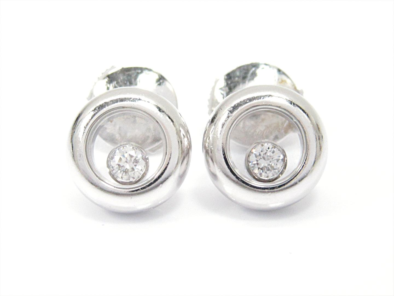 【中古】【送料無料】ショパール ハッピーダイヤモンドピアス レディース K18WG(750) ホワイトゴールドxダイヤモンド(石目なし) (83/2904) | Chopard ピアス ジュエリー K18 18K 18金 美品 ブランド ブランドオフ BRANDOFF