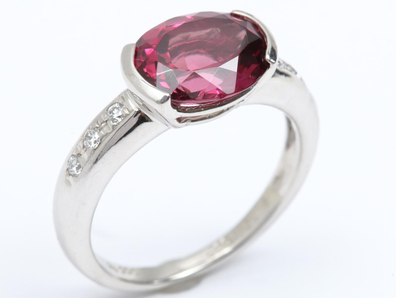 【中古】【送料無料】ジュエリー ガーネット ダイヤモンド リング 指輪 レディース PT900 プラチナ x ガーネット (3.09ct) x ダイヤモンド (0.09ct) | JEWELRY リング 美品 ブランドオフ BRANDOFF