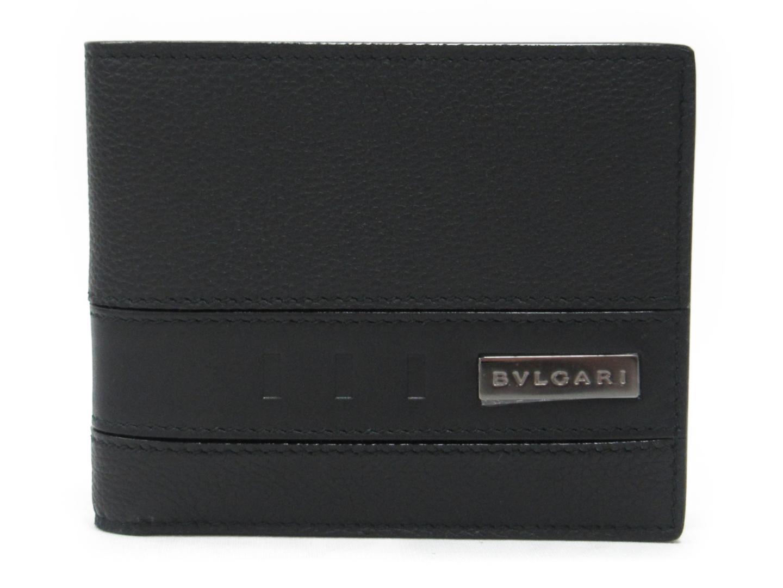 【送料無料】ブルガリ 二つ折札入れ メンズ レディース 牛革(カーフ) ブラック (281960) | BVLGARI 財布 二つ折り 札入れ 新品 ブランド ブランドオフ BRANDOFF