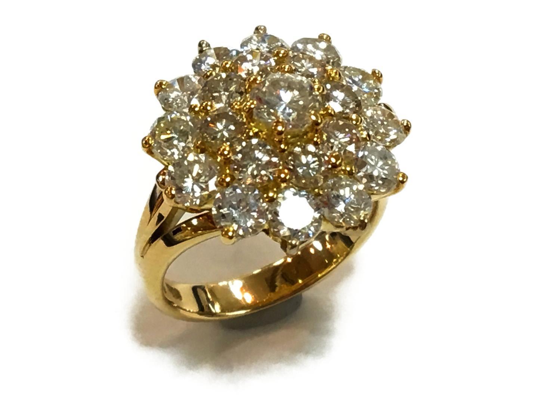 【中古】【送料無料】ジュエリー ダイヤモンドリング 指輪 レディース K18YG(750) イエローゴールドxダイヤモンド3.78ct クリアーxゴールド   JEWELRY リング K18 18K 18金 美品 ブランドオフ BRANDOFF