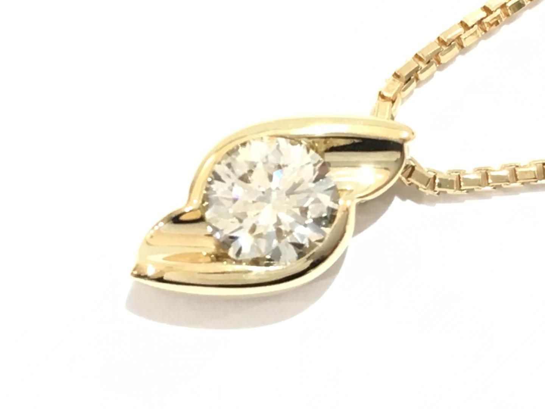 【中古】【送料無料】ジュエリー ダイヤモンドネックレス レディース K18YG(750) イエローゴールド×ダイヤモンド(1.02ct) | JEWELRY ネックレス K18 18K 18金 美品 ブランドオフ BRANDOFF