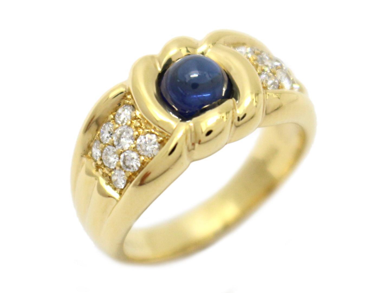 【中古】【送料無料】ジュエリー サファイア ダイヤモンド リング 指輪 レディース K18YG(750) イエローゴールド×サファイア(1.10ct)×ダイヤモンド(0.35ct) | JEWELRY リング K18 18K 18金 美品 ブランドオフ BRANDOFF